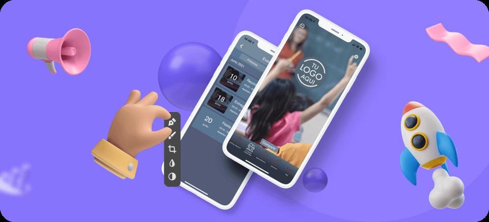 Mockup de un móvil con la aplicación de App-easy