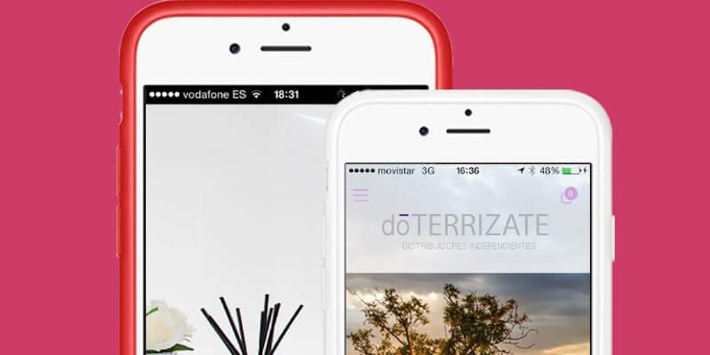Mockups con ejemplos de apps de centros de estética