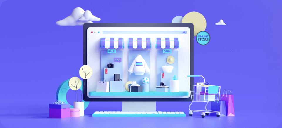 Imágenes que muestran el proceso de crear una tienda online