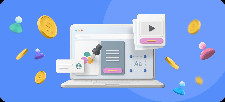 Un ordenador con diferentes iconos en el fondo