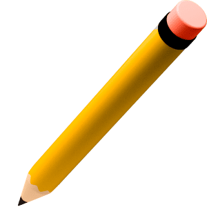Icono de un lápiz para representar la sección general del blog