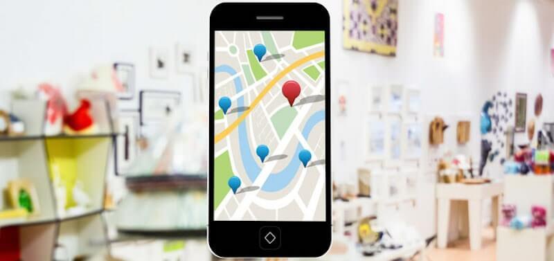 móvil con una imagen de Google Local Pack