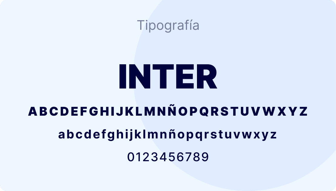 Tipografía Inter de Scoreapps