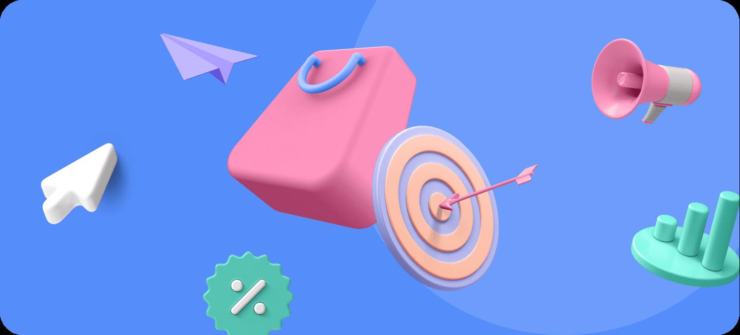 Imagen de una bolsa de la compra para representar los tipos de ventas