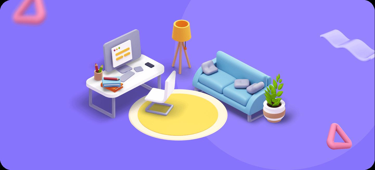 Imagen de un salón de una casa, para repesentar los trabajos desde casa