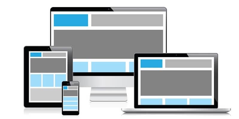 Varias imágenes de dispositivos para representar las web adaptadas